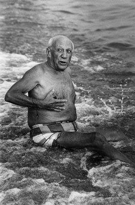 写真 Clergue - Picasso en la playa I