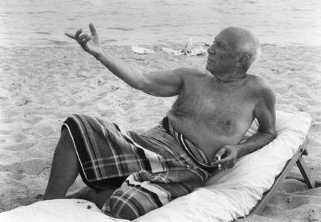 写真 Clergue - Picasso en la playa II