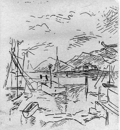 彫版 Carra - Piccolo molo I, 1924