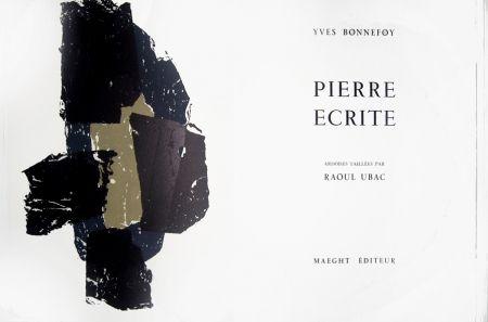 リトグラフ Ubac - Pierre écrite