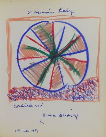 技術的なありません Alechinsky - Pierre Alechinsky (né en 1927). Dessin original signé et daté.