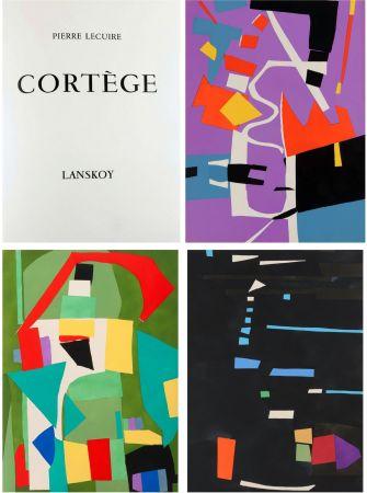 挿絵入り本 Lanskoy - Pierre Lecuire : CORTÈGE. 24 pochoirs (ex. de tête avec suite complète) 1959.