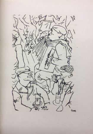 挿絵入り本 Grosz - Pierre Mac Orlan : PORT D'EAUX MORTES. Lithographies de Georges Grosz. 1926.