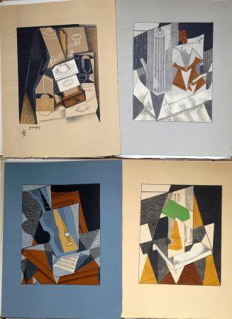挿絵入り本 Gris  - Pierre Reverdy:  AU SOLEIL DU PLAFOND. Tériade 1955