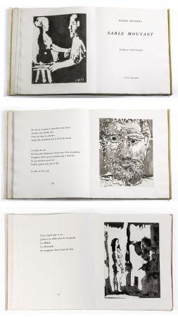 挿絵入り本 Picasso - Pierre Reverdy: SABLE MOUVANT. 10 aquatintes originales (1966).
