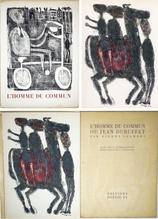 挿絵入り本 Dubuffet - Pierre Seghers : L'HOMME DU COMMUN ou Jean Dubuffet (1944).
