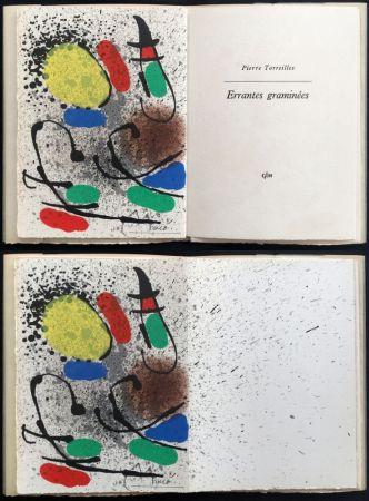 挿絵入り本 Miró - Pierre Torreilles : ERRANTES GRAMINÉES (1971).