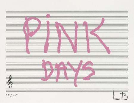 シルクスクリーン Bourgeois - Pink Days