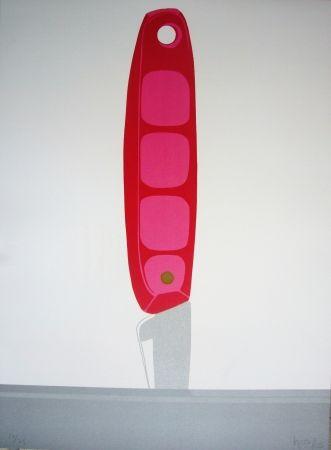 リトグラフ Hoyos - Pink Knife