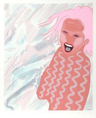 シルクスクリーン Kogelnik - Pink Swim
