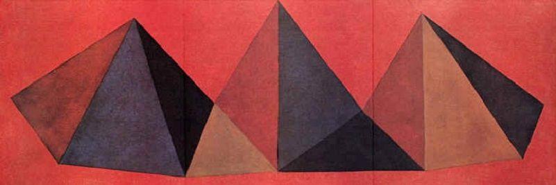 リトグラフ Lewitt - Piramidi IV