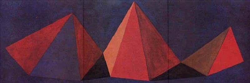 リトグラフ Lewitt - Piramidi VI