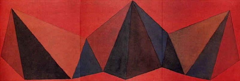リトグラフ Lewitt - Piramidi VIII