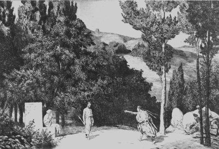 エッチングと アクチアント Klinger - Piramo e Tisbe III