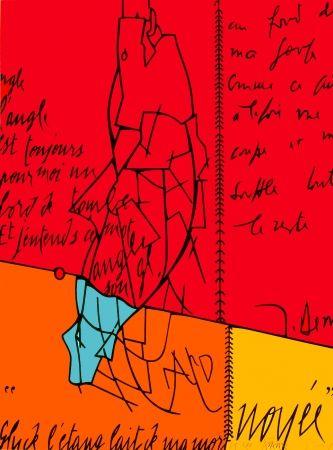 リトグラフ Adami - Placard Derrida