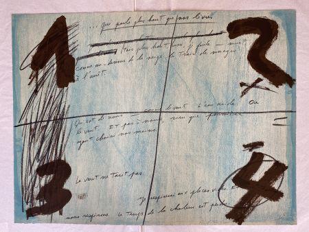 リトグラフ Tàpies - Placards