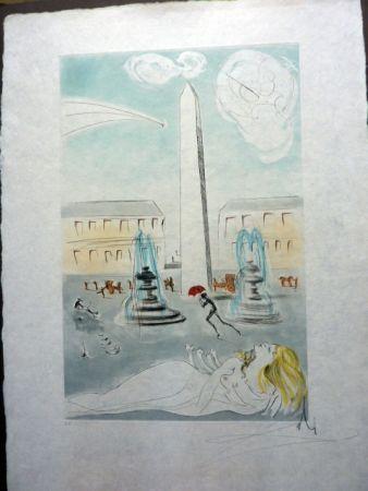 エッチングと アクチアント Dali - Place De La Concorde