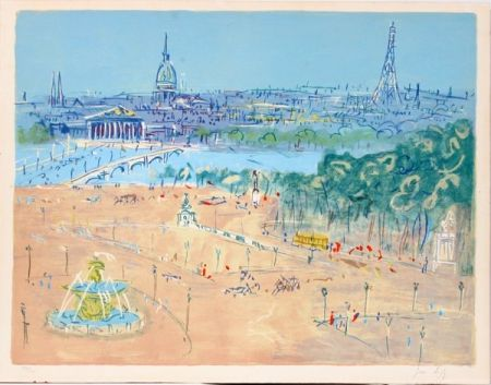 リトグラフ Dufy - Place de la Concorde