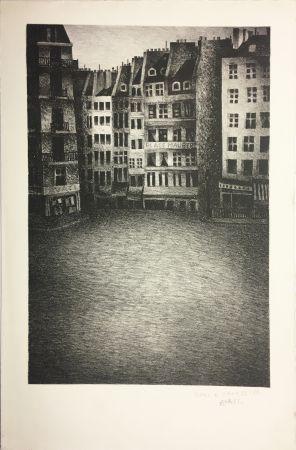 リトグラフ Avati - PLACE MAUBERT (1951)