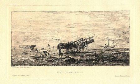 彫版 Daubigny - Plage de Villerville
