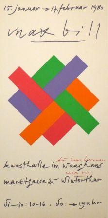 シルクスクリーン Bill - Plakat Kunsthalle Winterthur