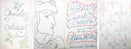 挿絵入り本 Matisse - POÈMES DE CHARLES D'ORLÉANS 54 lithographies par Henri Matisse (1950).