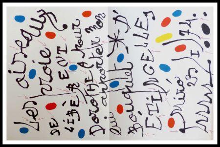 リトグラフ Miró - Poème pour Dorothea Tanning