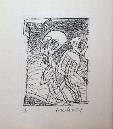 エッチング Alechinsky - Poèmes à peine poèmes