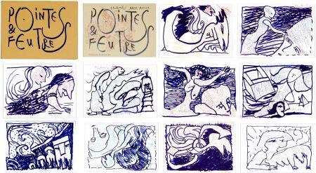 リトグラフ Alechinsky - Pointes & Feutres
