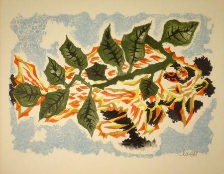 リトグラフ Lurcat - Poisson feuillage