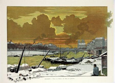 リトグラフ Grasset - Pont de Sully