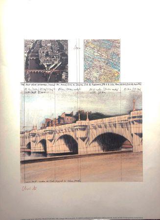 リトグラフ Christo - PONT NEUF MACBA BARCELONA 56X76