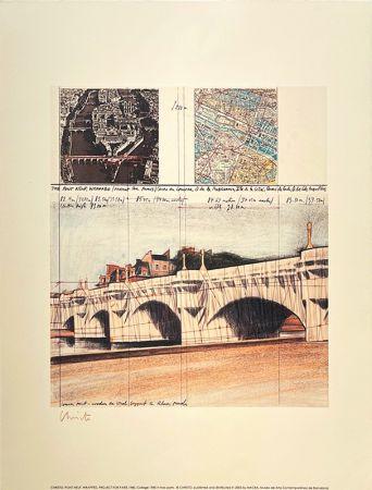 リトグラフ Christo - Pont neuf, Paris