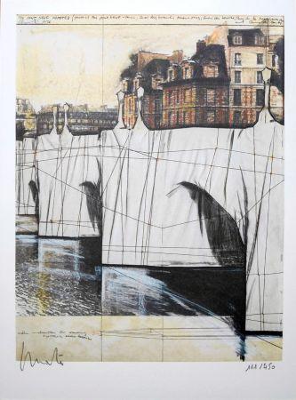 リトグラフ Christo - Pont Neuf Wrapped
