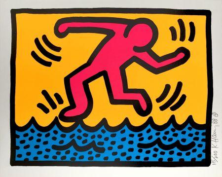 シルクスクリーン Haring - Pop Shop II, C