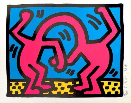 シルクスクリーン Haring - Pop Shop II, D