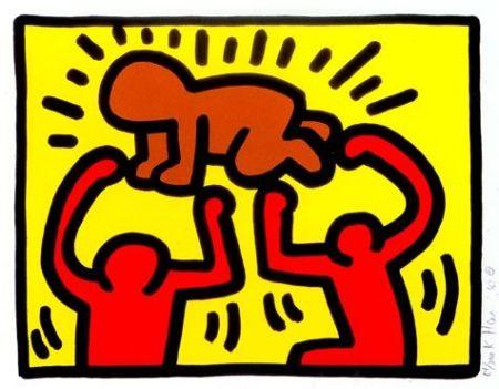 シルクスクリーン Haring - Pop Shop IV (B)