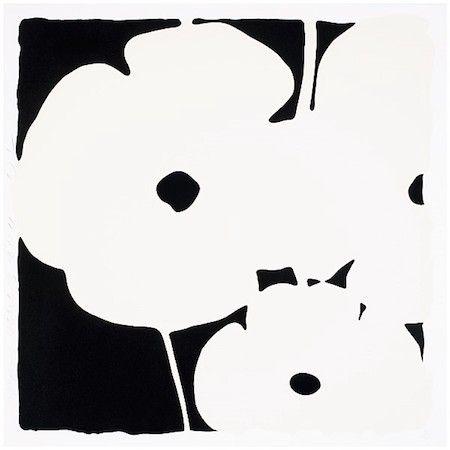 シルクスクリーン Sultan - Poppies, June 3, 2011 (White)