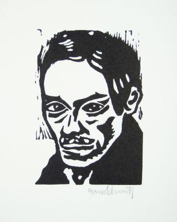 リノリウム彫版 Schmitz - Porträt Seiwert
