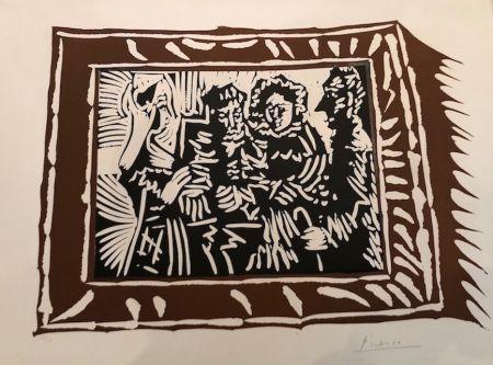 リノリウム彫版 Picasso - Portrai de famille ingresque IV