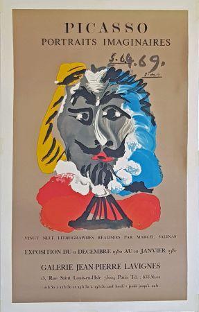 リトグラフ Picasso - Portrais Imaginaires