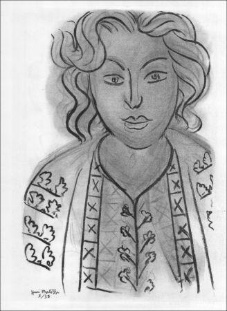 リトグラフ Matisse - Portrait. 1938.