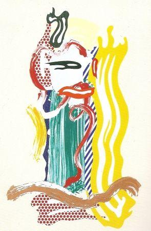 シルクスクリーン Lichtenstein - Portrait, Brushstrokes