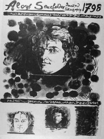 リトグラフ Sutherland - Portrait d'Aloyis Senefelder