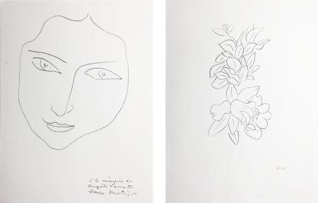 リトグラフ Matisse - PORTRAIT D'ANGÈLE (1943)