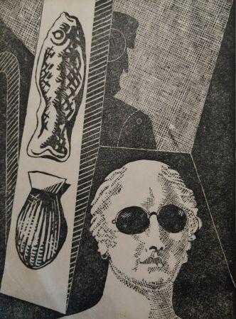 木版 De Chirico - Portrait d'Apollinaire