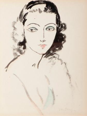 ステンシル Van Dongen - Portrait  de Femme