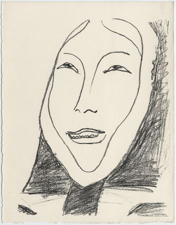 リトグラフ Matisse - Portrait de femme esquimau n° 4. 1947 (Pour Une Fête en Cimmérie)