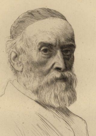 彫版 Legros - Portrait de G.F. Watts R.A.
