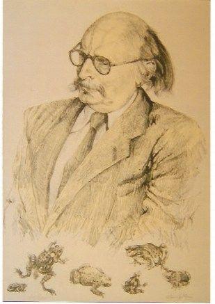 リトグラフ Foujita - Portrait de Jean Rostand